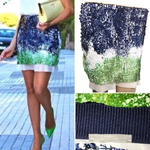 Zara W&B Collection Sequin Skirt Size Small